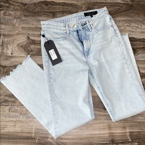 Raw Hem Light Wash Rag & Bone Jeans